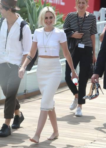 Kristen Stewards sin zapatos