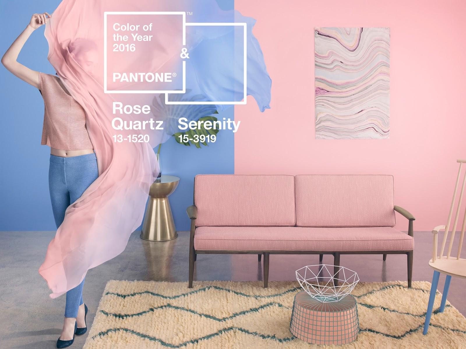 Rosa Cuarzo y Azul Serenity